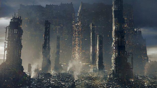 Deus Ex: Mankind Divided - Golem City Overview - made by Frédéric Bennett / Square Enix