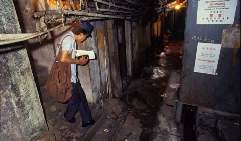 Kowloon Walled City - Mail Delivery - Greg Girard