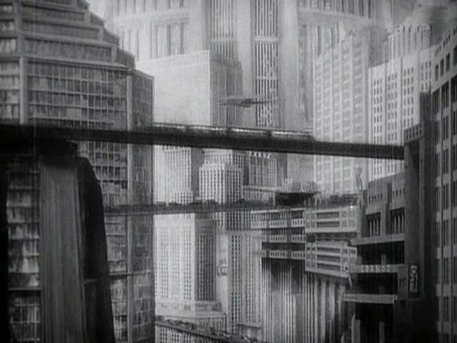 Metropolis - Interconnected high-rise buildings, Metropolis, 1927, UFA Babelsberg