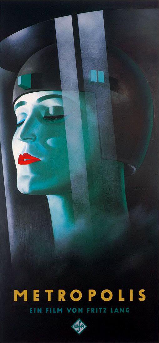 Metropolis - Artwork by Werner Graul 1927, UFA Babelsberg
