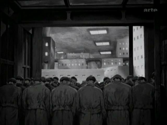 Metropolis - Commuting Lift with Workers, Metropolis 1927, UFA Babelsberg