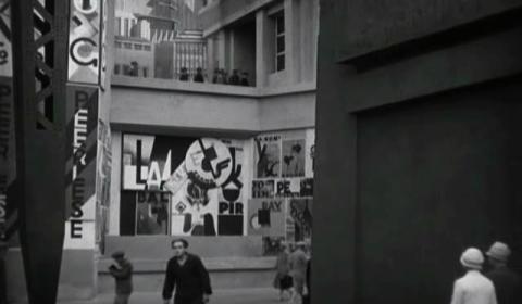 Metropolis - Upper City Street, Metropolis, 1927, UFA Babelsberg