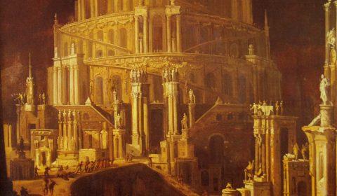 """La Torre de Babel"", painting by Monsu Desiderio, 1593"