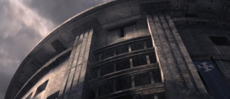 """Tetragrammaton Building in """"Equilibrium"""" (1997) [00h:11m:25s]"""