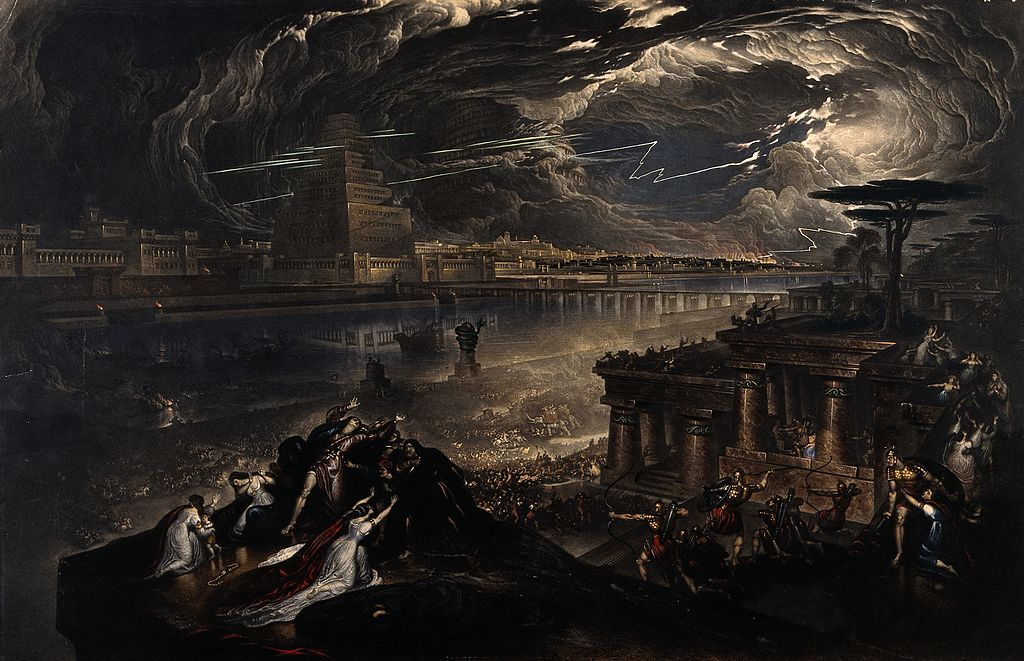 """The Fall of Babylon"", painting by John Martin, 1831"