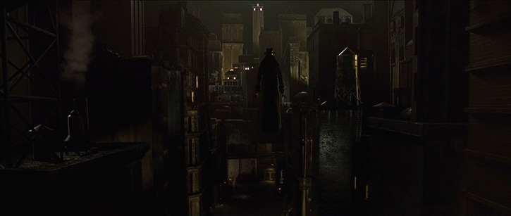 "Cityscape in ""Dark City"" (1998), © New Line Cinema"